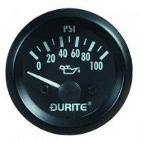 DURITE 52mm Oil pressure gauge  ,<br>Electrical sender unit<br>12 volt,<br> ALT/0-523-17